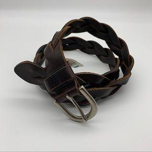 EDDIE BAUER Women's Belt braided Trick Brown M